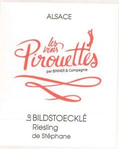 Etiquette du Bildstoeckl� Riesling